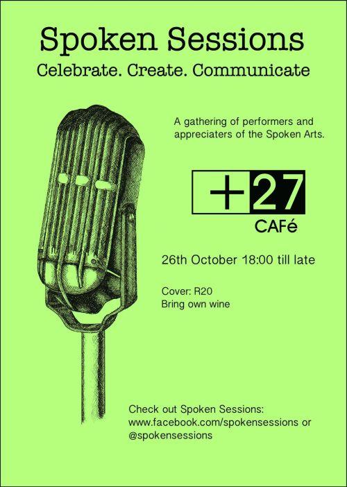 Plus 27 cafe Spoken Sessions poetry Pretoria